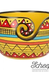 Scheepjes Scheepjes Yarn Bowl mango hout Yellow Strip