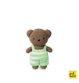 Boris en zijn gestreepte pastel groene overall
