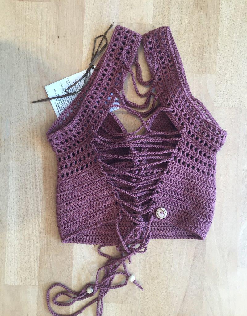 Handmade crochet festival top van 100% organisch katoen