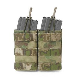Warrior Assault Systeem Atac-FG Dubbel M4 Molle Open M4 5.56mm Mag Pouch / bungee Retention W-EO-DMOP-5.56