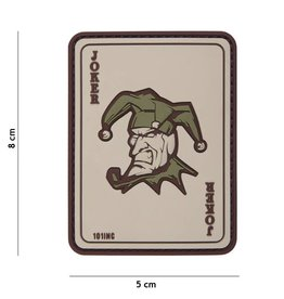 101 inc Joker PVC patch coyote