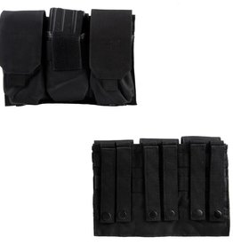 101 inc TRIPLE M4 MAG POUCH Black of OD