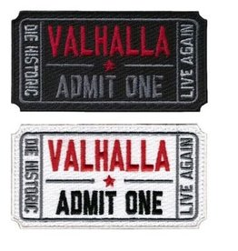 Tactical Velcro Ticket to Valhalla Morale Military Tactical Vikings Mad