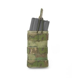Warrior Assault Systeem Single M4 Molle Open M4 5.56mm Mag Pouch / bungee Retention div kleuren W-EO-SMOP-5.56