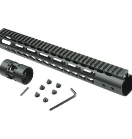 "Camaleon Free Float NSR 10"" Handguard One-piece Top Rail System KeyMod AR-15 - Copy"