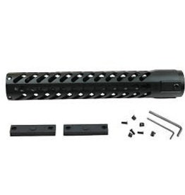 Camaleon 15 Inch Rifle Length Free Float One Piece Handguard Rail Mount System BLACK fit .223 Rem 5.56 M