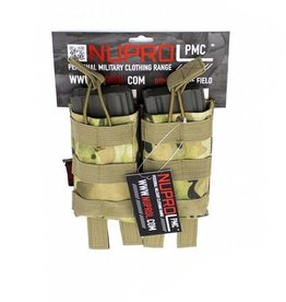 Nuprol NuProl PMC M4 Double Open Mag Pouch - NP Camo
