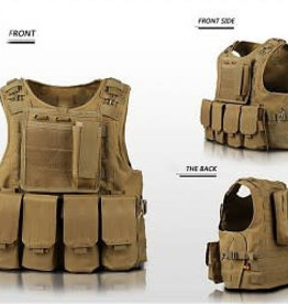Camaleon Tactical Molle Vest Tan