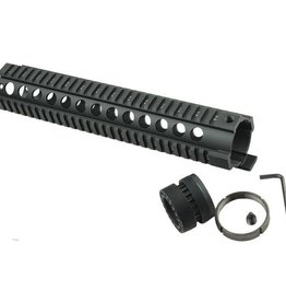 Camaleon Tactical T-Serie 4/15 Free Float 12 Inch Handguard Quad Rail Scope Mount