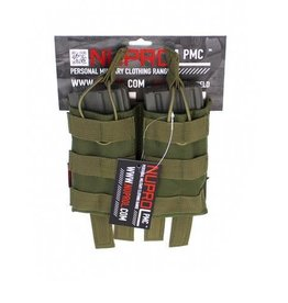 Nuprol NuProl PMC M4 Double Open Mag Pouch - Green