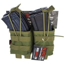 Nuprol NuProl PMC AK Double Open Mag Pouch - OD