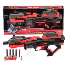 SERVE & PROTECT SHOOTER MEGA 54CM B/O + 10 PIJLEN  71