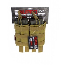 Nuprol NuProl PMC AK Double Open Mag Pouch - Tan