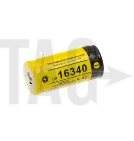 Klarus 16340 Battery 3.7V 650mAh