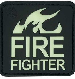 Fire Fighter Rubber Patch Glow in the dark