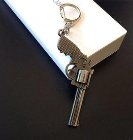 Revolver Wapen sleutelhanger