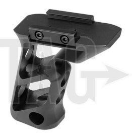 Metal CNC Picatinny Long Angled Grip Black Black