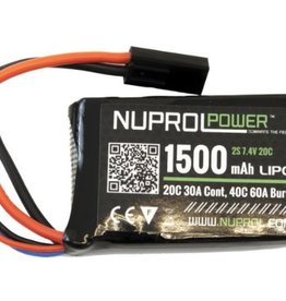 WE NP POWER 1500MAH 7.4V 20C PEQ MICRO LIPO