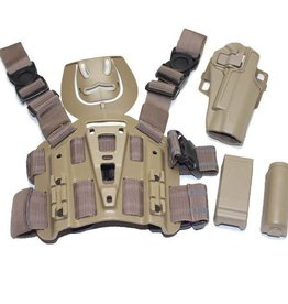 TAG-GEAR Blackhawk Style CQB Holster Set Tan, 1911