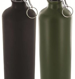 Highlander 1 Litre Aluminium Bottle Black/OD