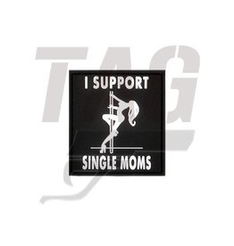 I Support Single Mums Rubber Patch swat