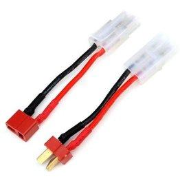 Adapter kabel t-plug/Dean naar grote  tamiya