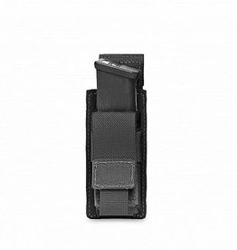 Warrior Assault Systeem MOLLE Single 9mm Direct Action Pistol Mag Pouch (Black)