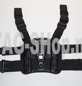TAG-GEAR Blackhawk style legpanel Black of tan