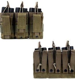 101 inc Triple cangaroo M4 mag pouch div kleuren of camo's