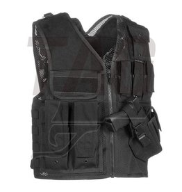 Invader Gear Mk.II Crossdraw Vest Black, OD of Coyote brown