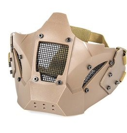 Evolution airsoft IRON MASK DOUBLE BELT + FAST HELMET MOUNT TAN
