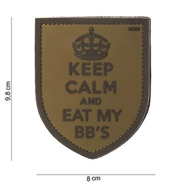 3D PVC KEEP CALM and eat my bb's BRUIN