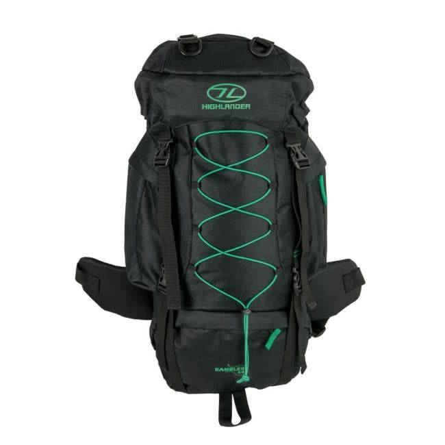 Highlander Highlander Rambler 44 Black/ Forest Green