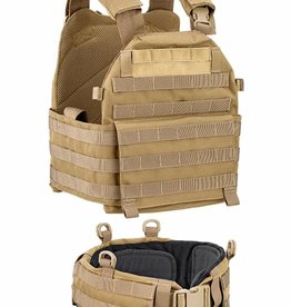 Defcon5 Defcon5 VEST CARRIER With Belt Coyote Brown BAV13