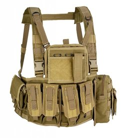 Defcon5 MOLLE RECON CHEST RIG Coyote brown RC901