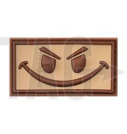 Evil Smiley Rubber Patch Desert