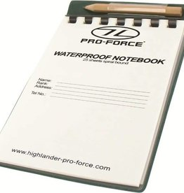 Highlander Highlander Waterproof Notebook 15x10.5cm