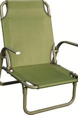 Highlander Highlander Kirkin Steel Beach Chair Olive