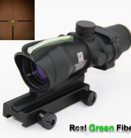 4x32 ACOG style optical scope w/ green fiber