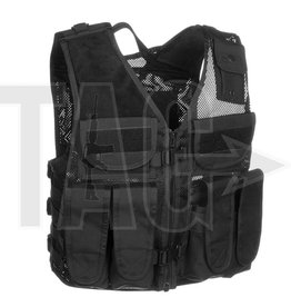 Invader Gear AK vest Black, OD of Coyote Brown