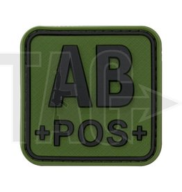 JTG JTG Bloodtype Square Rubber Patch AB Pos