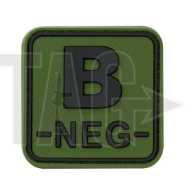 JTG JTG Bloodtype Square Rubber Patch B Neg