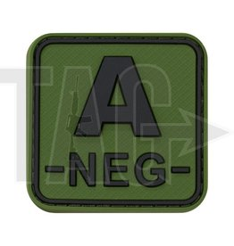 JTG JTG Bloodtype Square Rubber Patch A Neg