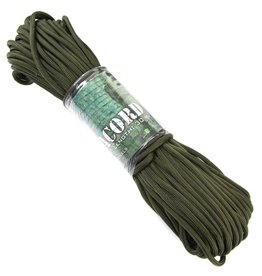101 inc PARACORD 7 STRINGS 30 MTR. Groen