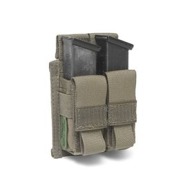 Warrior Assault Systeem MOLLE Double 9mm Direct Action Pistol Mag Pouch Ranger Green