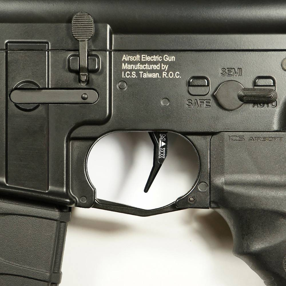 maxx MAXX MODEL CNC Aluminum Advanced Trigger (Style C) (Black) MX-TRG001SCB