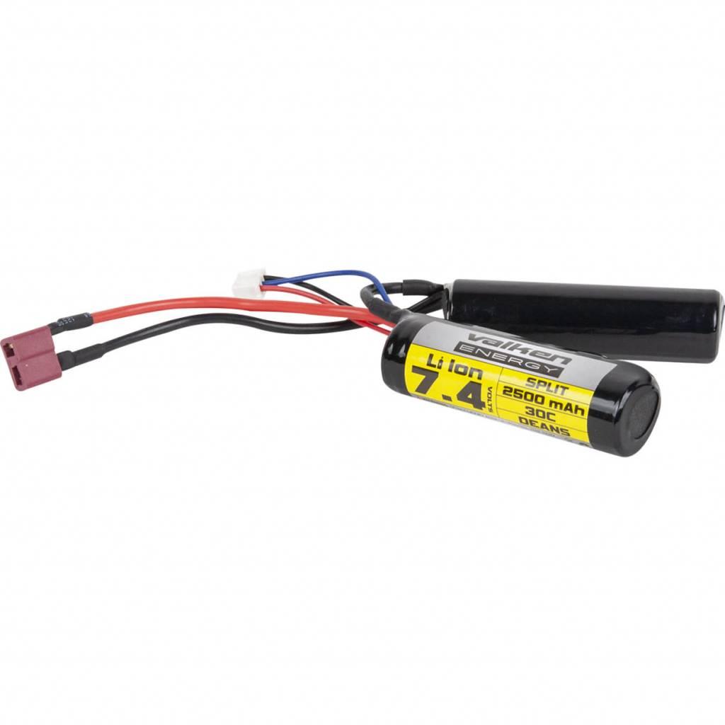 Valken Airsoft Battery - Li-Ion 7.4V 2500mAh Split Style Dean(High Output)