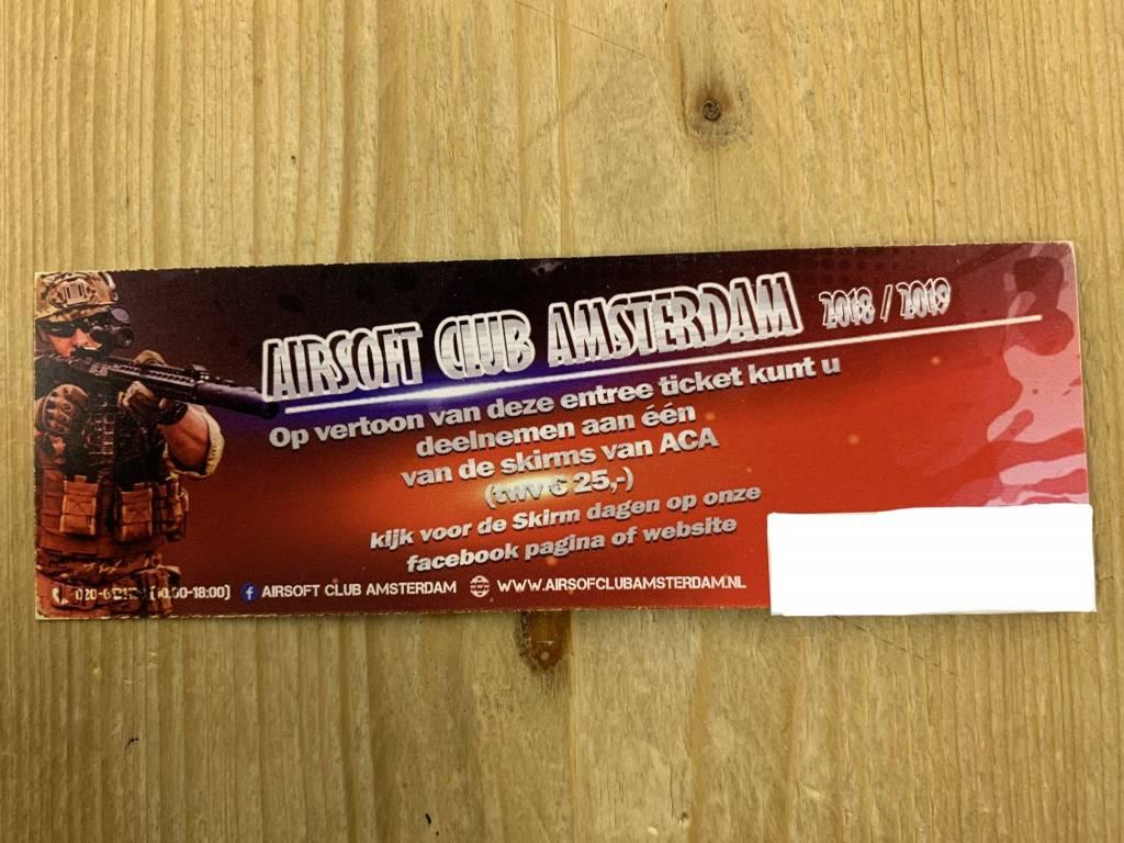 ACA VIP SKIRM Ticket Airsoft Club Amsterdam
