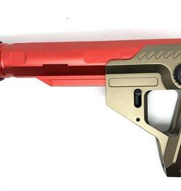Castellan Copy of Helix Stock set for M4 AEG - Red / Black