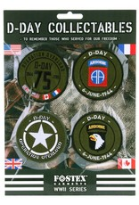 101 inc KAART EMBLEMEN D-DAY COLLECTABLES STOF
